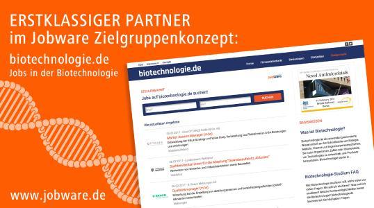 Biotechnologie.de reiht sich in Jobware Zielgruppenkonzept ein.