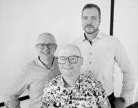 v.l.n.r. die A2 Projektleiter Ludwig Feuerlein und Michael Ungethüm, sowie Geschäftsführer Manfred Schüller