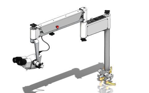 Mit über 80 % Normteilen wird das OP Mikroskop für HNO- und Augenärzte in Entwicklungsländern erschwinglich