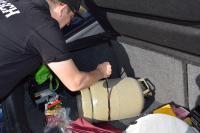 Gasflasche im Auto sichern