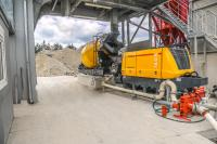 Concrete pump and buffer storage ensure continuous placing of concrete