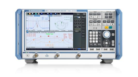 R&S ZNB8 4-port vector network analyzer supports cable tests in line with TC9 specification, Image: Rohde & Schwarz