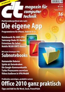 Das Titelbild der aktuellen c't-Ausgabe 16/2010