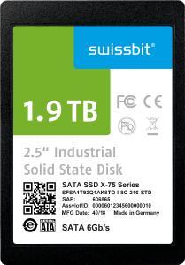 3D-NAND-basiertes Speicherprodukt mit industriellem Temperaturbereich: Swissbit X-75 ist eine SATA-6-Gb/s-SSD für den Einsatz bei -40 bis +85 °C, Bildquelle: Swissbit