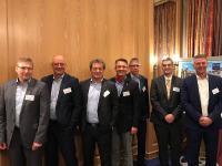 v. l. n. r. G.  Fischinger, Dr. C. Dujat, D. Padberg, Dr. P.-M. Meier, M. Meilutat, Dr. I. Matzerath und D. Holthaus