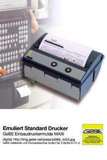 Emulates typical standard printer