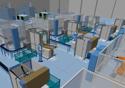 Maschinenaufstellung in 3D planen