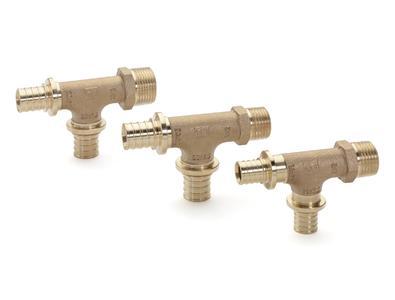 Zu den Neuheiten zählen unter anderem drei T-Stücke aus Rotguss für den optimalen Anschluss von Unterputz-Armaturen in Reihen- und Ringleitungsinstallationen in der Trinkwasserinstallation