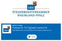Podcast der Steuerberaterkammer Rheinland-Pfalz zum Thema: Digitale Unterschrift mit signotec