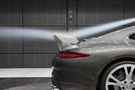 Tested in the wind tunnel: TECHART rear spoiler II for the Porsche 911