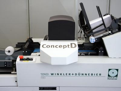 The ConceptD inkjet envelope overprint press is specifically designed for the expanding personalized direct mail segment