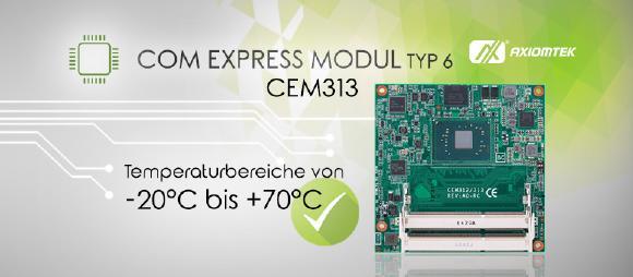 AXIOMTEKs neues COM Express mit herausragender multimedialer Leistung – CEM313