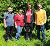 Das ESy-Labs Team v.l.n.r. Mehmet Kilic, Jennifer Kain, Johannes Seidler, Dr. Tobias Gärtner; © ESy-Labs GmbH