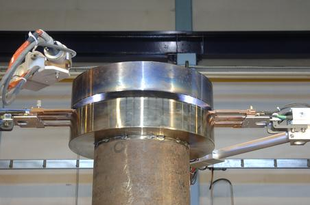Abb. 6a: Arbeitsprobe zum Fügen eines Turbinenrotors für den nuklearen oder konventionellen Einsatz Foto: Polysoude