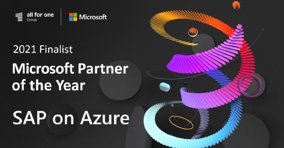 Die All for One Group ist Finalist beim weltweiten 2021 Microsoft Partner of the Year Award // Einzigartige Kompetenz in Microsoft und SAP.