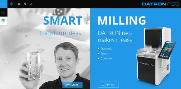 DATRON AG launched a special website for its brand new compact 3-axis milling machine