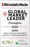 "GEMÜ honoured as ""Global Market Leader"" for the fourth time  in a row"