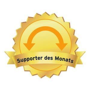 Stilisierte Medaille für den Supporter des Monats