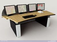 intersec 2010: Knürr Technical Furniture präsentiert ergonomische Kontrollraumkonsole in Dubai
