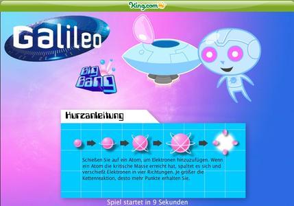 """""""Big Bang"""" ist das neue Online-Game zu Galileo, dem beliebten Wissensmagazin auf ProSieben."""