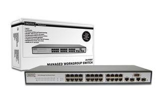 DIGITUS® Professional Layer 2 managed Fast Ethernet 24 Port Switch, DN-60031/ Foto: photocase.com © Alex-
