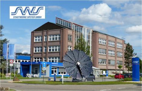 Das Verwaltungsgebäuder der Stadtwerke Speyer / Pressebild der SWS