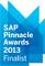 "proaxia ist einer der Finalisten der 2013 SAP Pinnacle Awards in der Kategorie ""Packaged Mobile Application Innovator of the Year"""