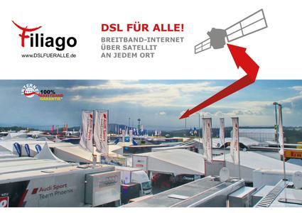 Mehr Speed für den Rennsport kommt jetzt via Satellit aus Bad Segeberg