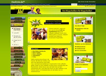 """Wissen macht Ah!""-Website Screenshot 2"