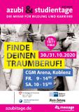 Plakat-Motiv azubi- & studientage Koblenz 2020