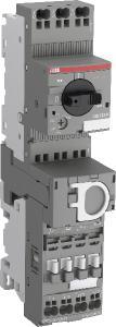 Motorstarter der neuen, einfach zu installierenden K-Serie mit Push-in-Anschlusstechnik, bestehend aus Mo-torschutzschaltern MS132-K bis 32 A und Schützen AF..-K S1 und S2 bis 18,5 kW / 400 V, Quelle: ABB