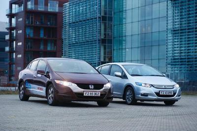 Der Honda FCX Clarity und der Honda Insight bei der COP15 Klima-Konferenz in Kopenhagen