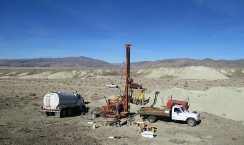 Figure 1. Drilling at Clayton Valley Lithium project, Nevada