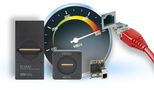 NBASE-T Zeilenkameras von e2v und OEM Interface Modul von Pleora