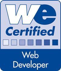 Webmasters Europe Certified Web Developer Logo