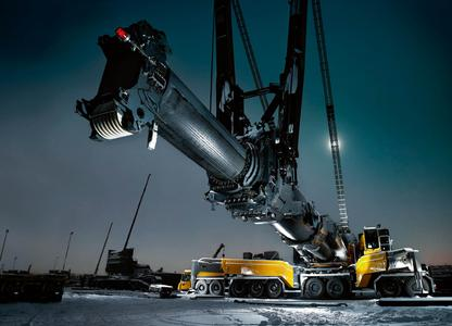 ContiTech provides hose solutions for the original equipment needs of all types of construction machines and industrial vehicles. Concrete and material transport hoses are also on view at the booth (Photo: ContiTech)
