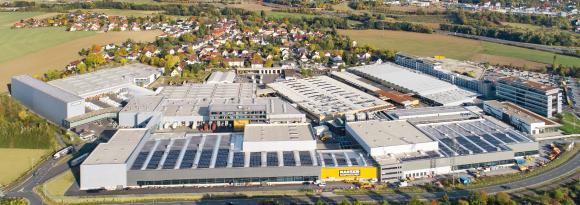 Kaeser Kompressoren's headquarters and main plant in Coburg-Bertelsdorf
