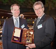 Herbert Kraibühler, Managing Director Technology & Engineering at Arburg, receives Georg Menges Award 2012