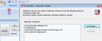 Das Exchange©-Absender-Management