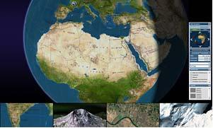 3D world atlas for media group Bertelsmann