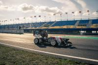 """The electric race car """"eiger"""" has a four wheel drivetrain that is controlled by an FPGA on the Enclustra Mercury ZX5 SoC module. (pictures: Frank Schaufelberger / AMZ)"""