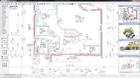 Erstellen von Bauplänen und präzise Ausführungsplanung mit der Architektursoftware DataCAD