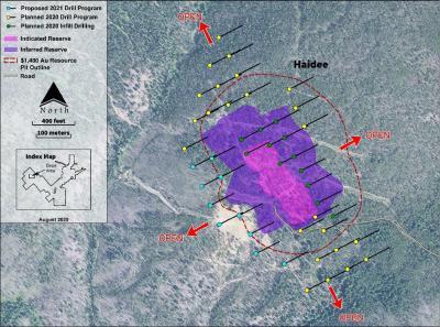 Abbildung 2: Bohrprogramm im Gebiet Arnett Haidee