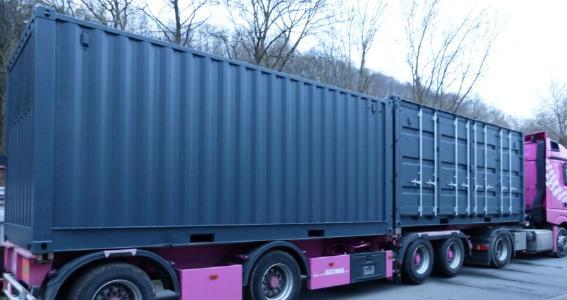 DryCloud 20 verladen 2 Container für zylindrische EV Batterien oder defekte löschen Envites Energy