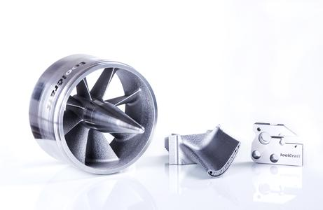 Various components realised by using additive manufacturing.