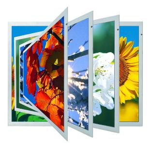 10.4-inch TFT LCDs with VGA resolution and LED backlight