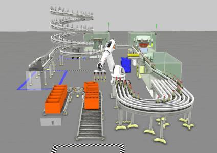 Mit Visual Components Fertigungsprozesse optimieren – am Beispiel einer Flaschen-Füllanlage