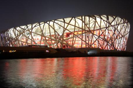 "Caparol expertise was in demand as a very special, brilliant red paint coating was needed for the Olympic Stadium in Beijing (Photo: picture-alliance/dpa)/ ""This photo may only be published by prior permission. Please contact the Caparol press department"""