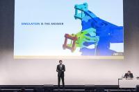 Ajei Gopal, ANSYS President und CEO, spricht zu Beginn der Konferenz über den Einsatz der Simulation zur digitalen Transformation von Unternehmen, Quelle: CADFEM