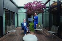Die Geschäftsführer von Babtec Informationssysteme GmbH Michael Flunkert und Waios Kastanis